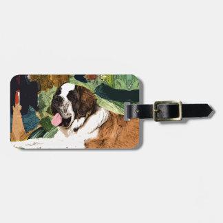 Bernhardiner-Hund Kofferanhänger