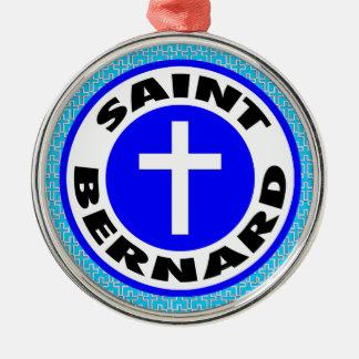 Bernhardiner Rundes Silberfarbenes Ornament