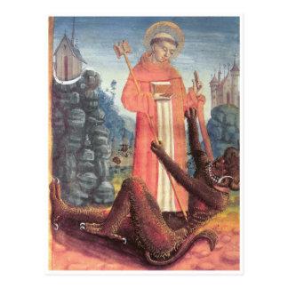 Bernhardiner überwindt den Teufel Postkarten