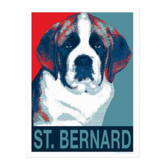 Bernhardiner-Welpen-Hoffnungs-politischer Postkarten