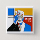 Bernie '16 quadratischer button 5,1 cm