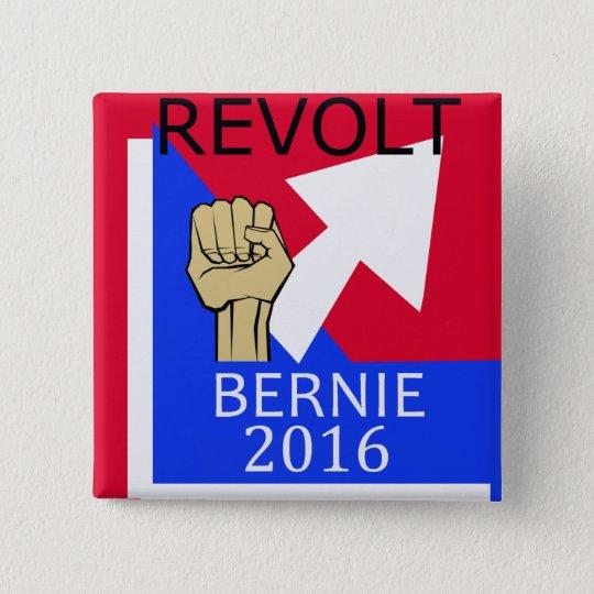 Bernie-Aufruhr sq. Quadratischer Button 5,1 Cm