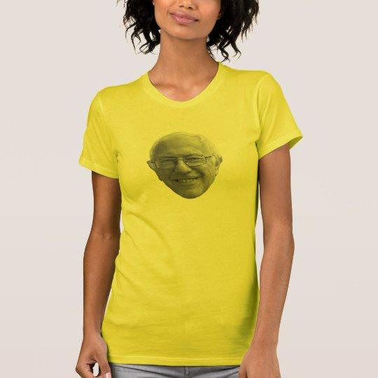 BERNIE-KOPF lächelt goldener Staat T-Shirt