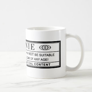 Bernie-Sandpapierschleifmaschine-Warnschild Kaffeetasse