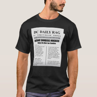 Bernie-Sandpapierschleifmaschinen überfielen T-Shirt
