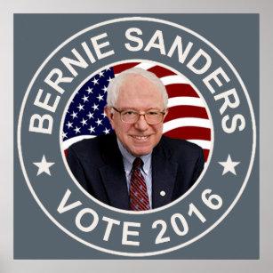 Bernie-Sandpapierschleifmaschinen US-Flagge Poster