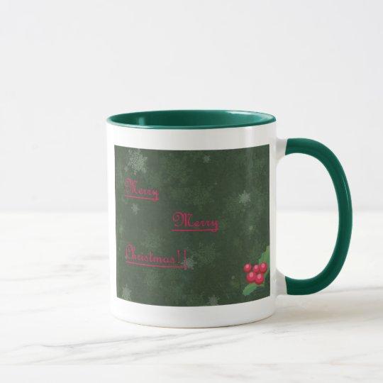 Bernstein-frohe Weihnacht-Tasse! Tasse