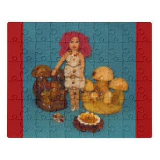 Bernsteinfarbige Feen-Puppe Puzzle