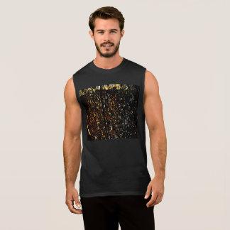 Bernsteinfarbiger der Regen-ultra Sleeveless T - Ärmelloses Shirt