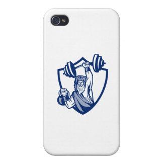 Berserker anhebendes Barbell Kettlebell Wappen Hülle Fürs iPhone 4