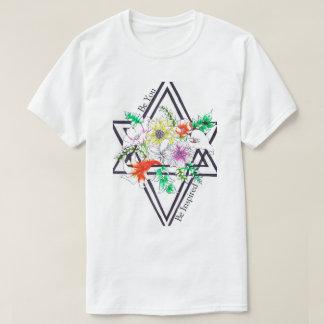 Bersten mit Blumen T-Shirt