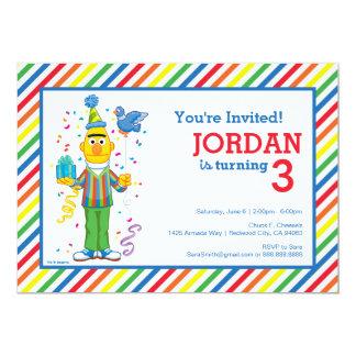 Bert a barré l'anniversaire carton d'invitation  12,7 cm x 17,78 cm