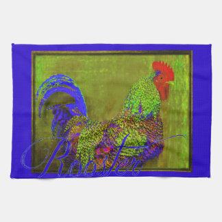Bert das Hahn-Retro Kunst-Geschirrtuch Handtuch