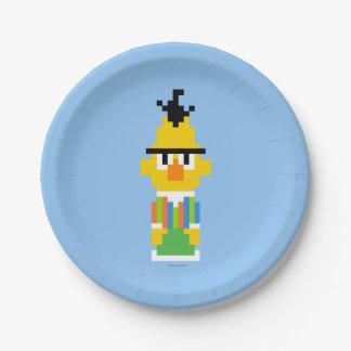 Bert-Pixel-Kunst Pappteller