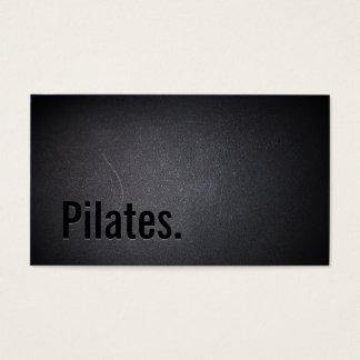 Beruflich schwärzen Sie heraus Pilates Visitenkarte