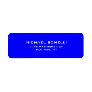 Berufliche blaue Farbeinfaches einfaches elegantes Rücksendeetikett