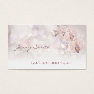 Berufliche elegante LuxusGlitter bokeh Orchidee Visitenkarte