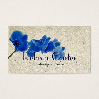 Berufliche Floristen-Geschäfts-Karten-blaue Visitenkarte
