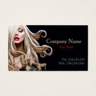 Berufliche gelockte vorbildliche blondes visitenkarte