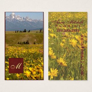 Berufliche Geschäftskarte Teton Wildblumen Visitenkarte