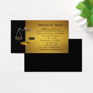 Berufliche legale Gesetzesrechtsanwalt-Skalen von Visitenkarte