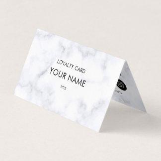 Berufliche Loyalitäts-elegantes weißes Visitenkarten