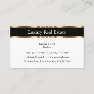 Berufliche noble Realtor-Geschäfts-Karten Visitenkarte