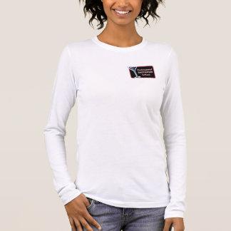 Beruflicher Barkeeper-Schullogo-T-Stück Frauen Langarm T-Shirt