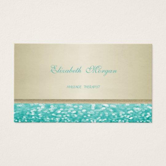 Beruflicher eleganter Glamour Glittery Visitenkarte