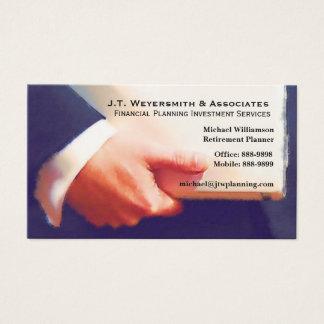 Beruflicher Finanzplaner oder Banker Visitenkarte