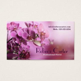 Beruflicher Floristen-lila Visitenkarte