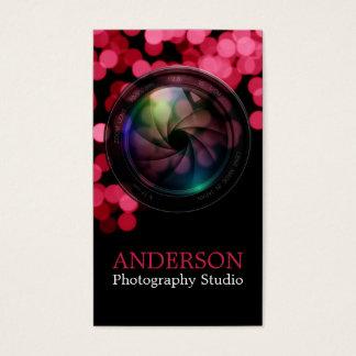 Beruflicher Fotograf-vertikale Geschäfts-Karte a Visitenkarte