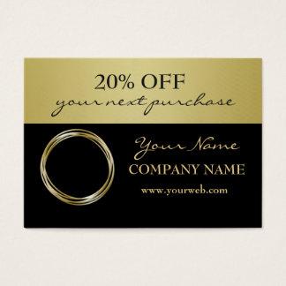 Beruflicher GoldImitat-Ring-Logo-Empfehlungs-Kupon Jumbo-Visitenkarten