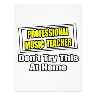 Beruflicher Musik-Lehrer-… Witz Flyer Druck