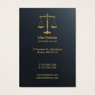 Beruflicher Rechtsanwalt an Gesetz | golden Visitenkarte