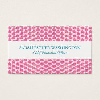 Beruflicher rosa Regenbogen-Entwurf Visitenkarte