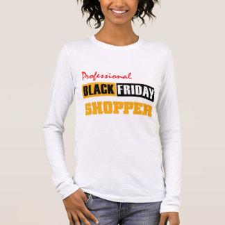 Beruflicher schwarzer Freitag-Käufer Langarm T-Shirt