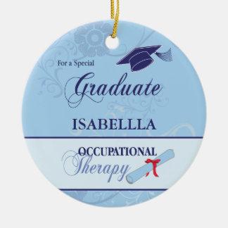 Beruflicher Therapeut-Abschluss-Strudel-rundes Keramik Ornament