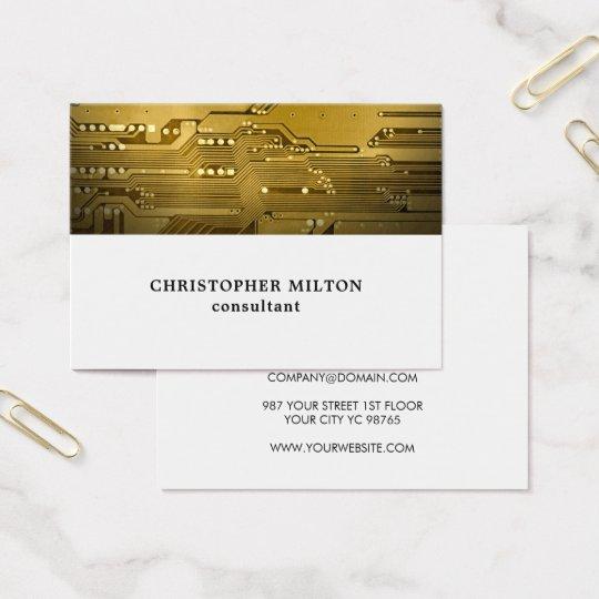 Beruflicher weißes Goldleiterplatte-Berater Visitenkarte