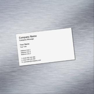 Berufliches einfaches Weiß des Klassiker-| Visitenkartenmagnet