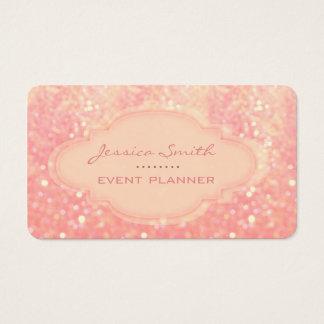Berufliches elegantes Glitter bokeh Visitenkarte
