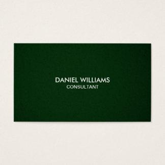 Berufliches elegantes modernes minimales Grün Visitenkarte