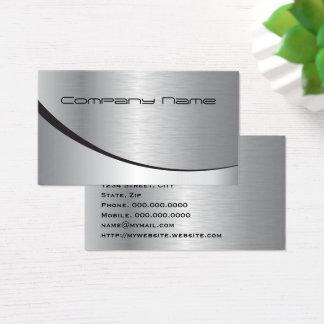 Berufliches elegantes modernes silbernes schwarzes visitenkarte