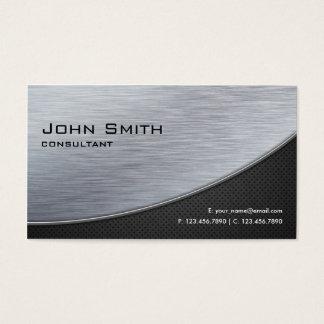 Berufliches elegantes silbernes modernes visitenkarten
