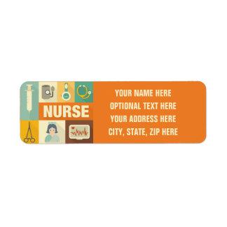 Berufliches Krankenschwester Iconic entworfen