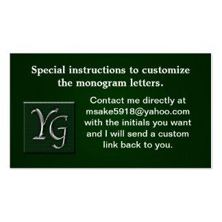 Berufliches kundenspezifisches Monogramed Visitenkarten