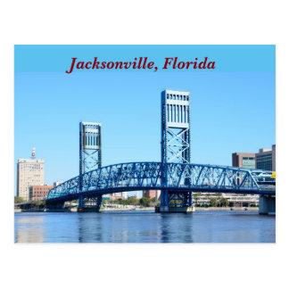 Berühmte blaue Brücke Jacksonville, Florida Postkarte