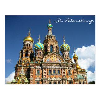 Berühmte Kirche vom St. Petersburg Russland Postkarte