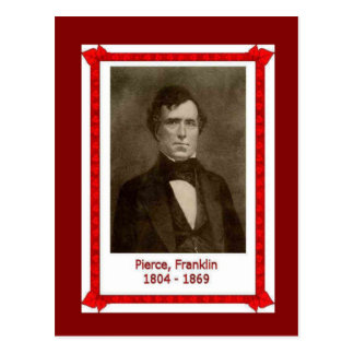 Berühmte Leute, Franklin Pierce 1804 - 1869 Postkarte