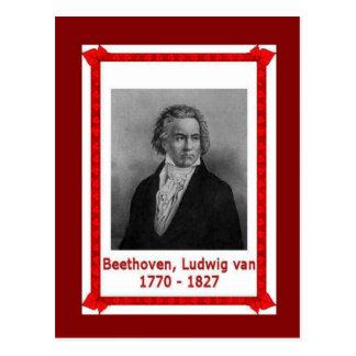 Berühmte Leute, Ludwig van Beethoven 170-1827 Postkarte